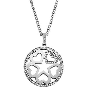 JETTE Silver Love Tag Collier