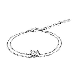 JETTE Silver Armband Heart