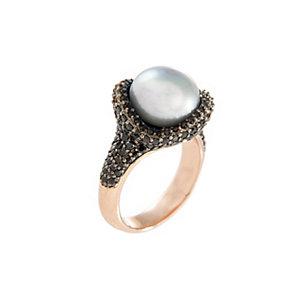 Bronzallure Damenring Fancy Ring Button Pearl WSBM00015-20