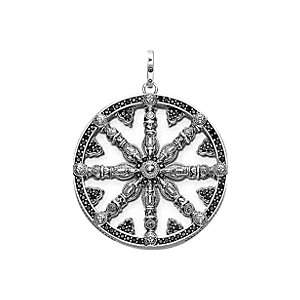 THOMAS SABO Anhänger Wheel of Karma PE668-051-11