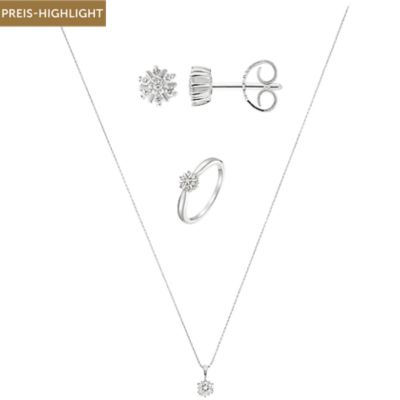 CHRIST Diamonds Set Collier + Ohrstecker + Ring