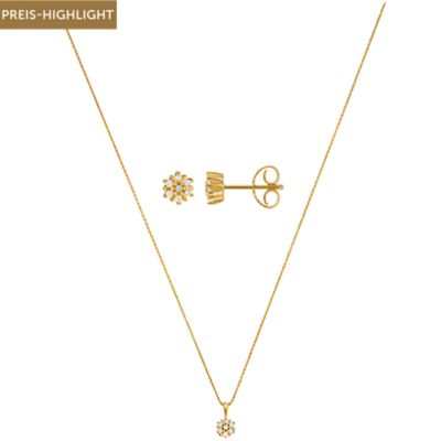 CHRIST Diamonds Set Collier + Ohrstecker