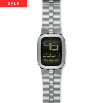 Swatch Herrenuhr Silver Bump SURM100