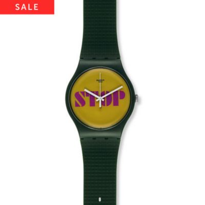 Swatch Herrenuhr Stop Think Talk SUOG104