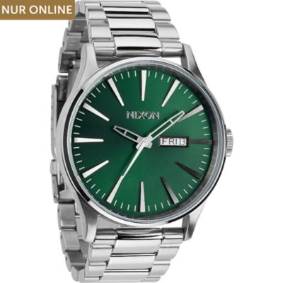Nixon Herrenuhr Sentry SS Green Sunray A356 1696