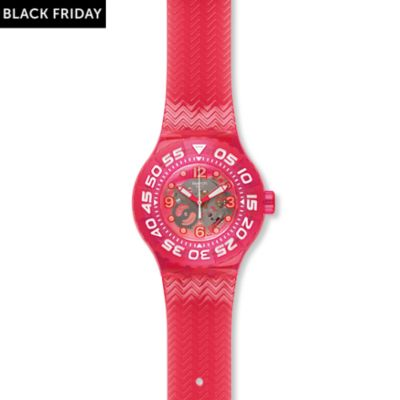 Swatch Damenuhr Deep Berry SUUP100
