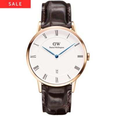 Daniel Wellington Herrenuhr Dapper York, Rose