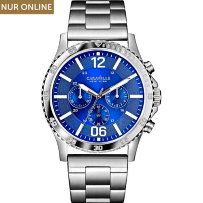 Caravelle New York Herrenchronograph Blue Story 43A116