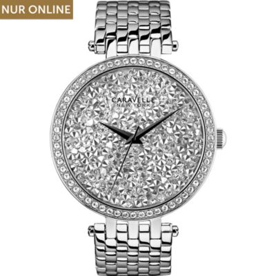 Caravelle New York Damenuhr Crystals 43L160