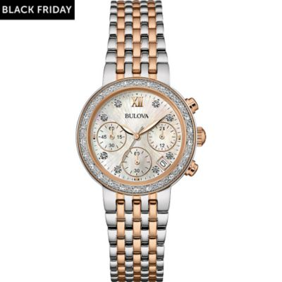 Bulova Damenchronograph Diamonds 98W215
