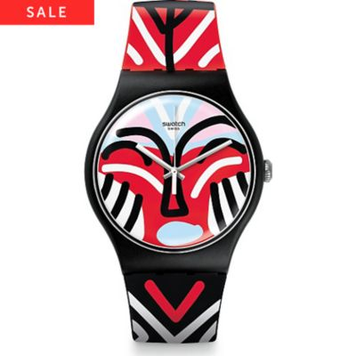 Swatch Unisexuhr Mask Parade