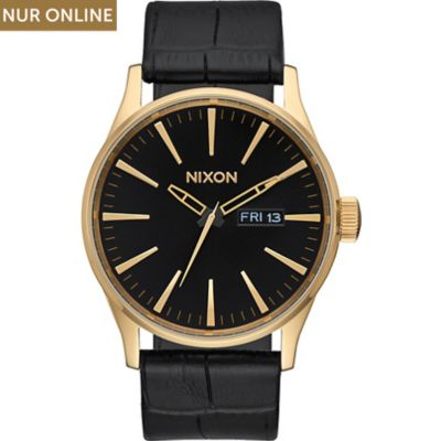 Nixon Herrenuhr Sentry Leather Gold A105-2022-00
