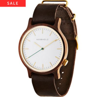 Kerbholz Uhr Walter Walnut Tanned Brown