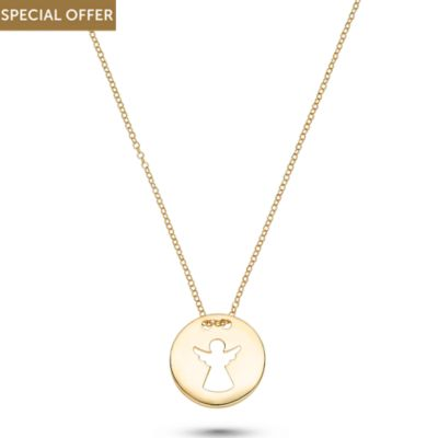 CHRIST Gold Kette Engel