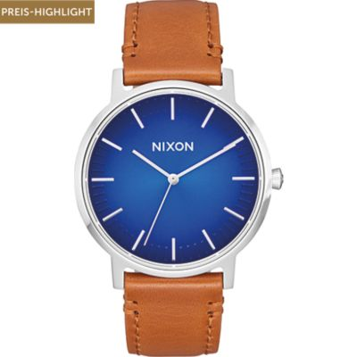 Nixon Damenuhr Porter Leather
