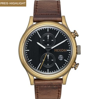 Nixon Herrenuhr Station Chrono Leather A1163-2539-00