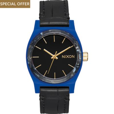 Nixon Damenuhr Medium Time Teller Leather