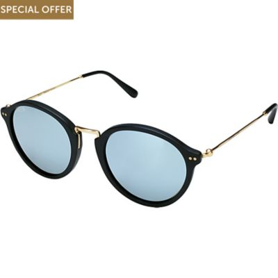 Kapten & Son Sonnenbrille Maui Matt Black Blue Mirrored Glass