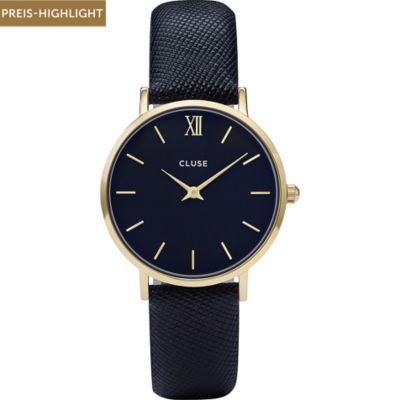 Cluse Damenuhr Minuit Gold/midnight