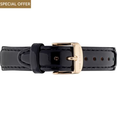 Kapten & Son Lederband Leather Strap Black Patent
