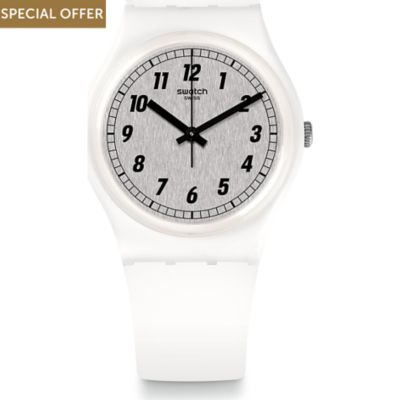 Swatch Unisexuhr Something White