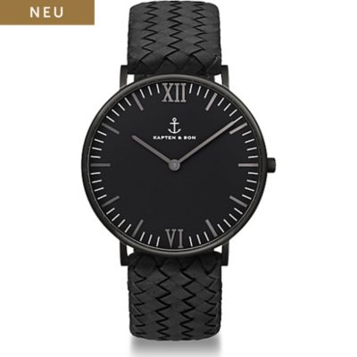 Kapten & Son Damenuhr Campina Black Midnight Woven