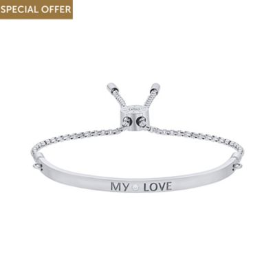 JETTE Silver Armband My Love