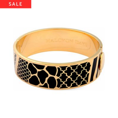 Halcyon Days Armreif Wildlife Black & Gold