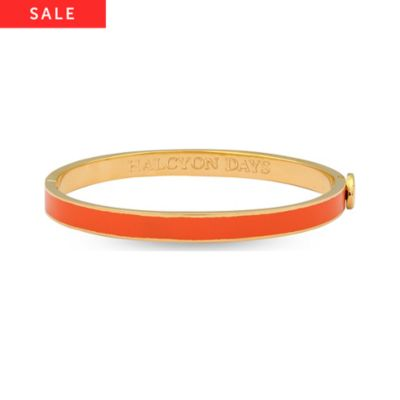 Halcyon Days Armreif Skinny Plain Orange & Gold 206/PH034