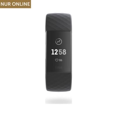 Fitbit Fitnessarmband Charge 3 FB409GMBK-EU