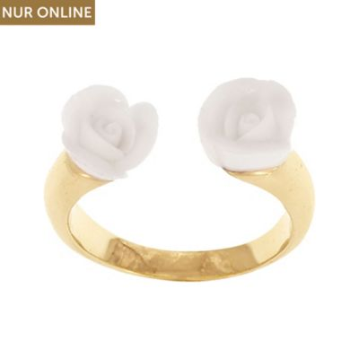 Nach Bijoux Damenring Mini White Rose Face To Face BB45