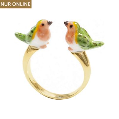 Nach Bijoux Damenring Robin Bird Face To Face BB41