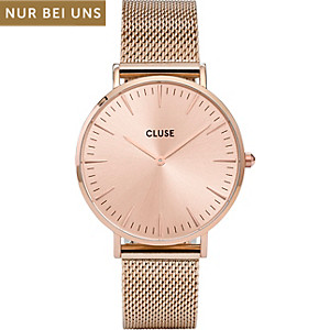 Cluse Damenuhr La Bohème Mesh Full Rose Gold CLG002