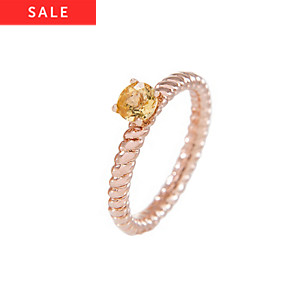 Bronzallure Damenring Stone Ribbed Band Ring WSBZ00553CT.-16