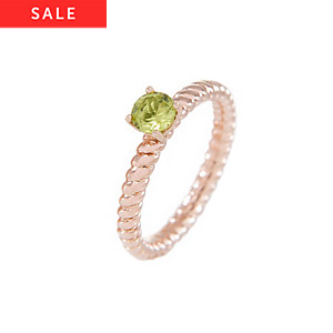 Bronzallure Damenring Stone Ribbed Band Ring WSBZ00553PD.-16
