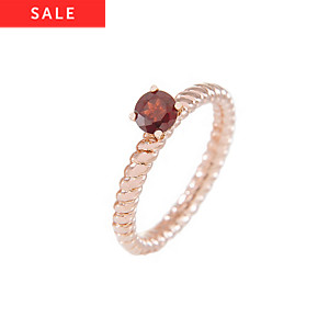 Bronzallure Damenring Stone Ribbed Band Ring WSBZ00553RG.-16