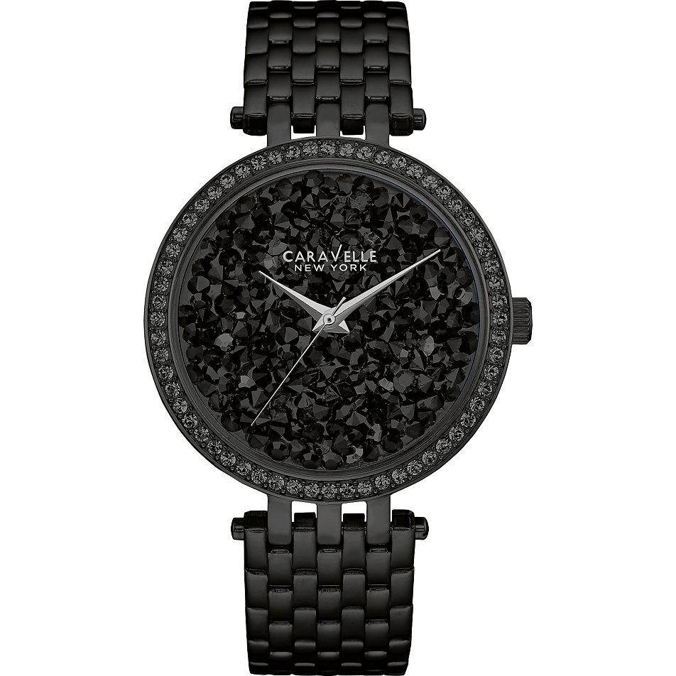 Damenuhren schwarz  Caravelle New York Damenuhr Crystals 45L147 bei CHRIST.de bestellen