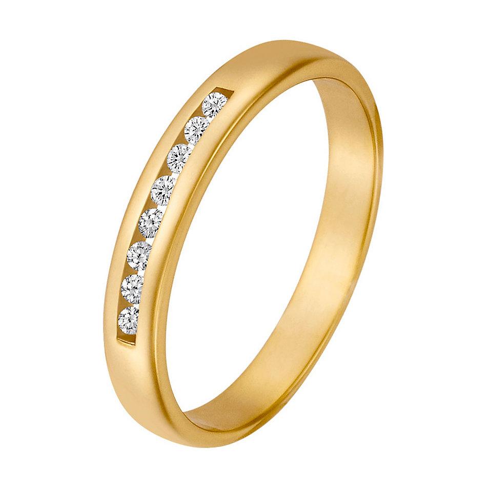 goldener ring mit brillanten ca 0 08 ct bei christ kaufen. Black Bedroom Furniture Sets. Home Design Ideas