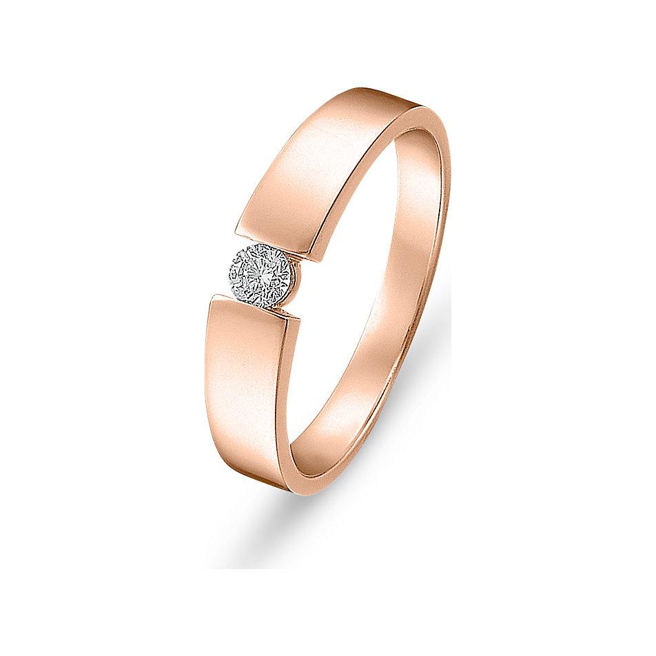 Diamantring rotgold  CHRIST Solitairering 60041601 online kaufen bei CHRIST
