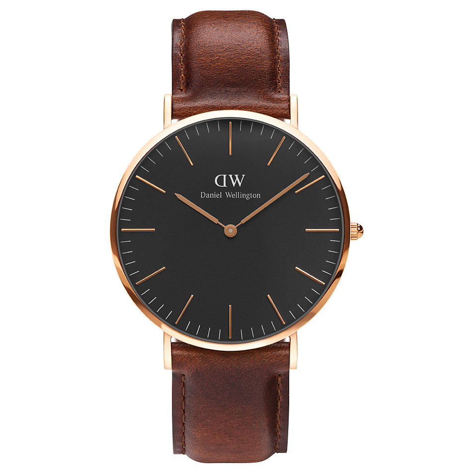 daniel wellington herrenuhr classic black st mawes dw00100124 bei bestellen. Black Bedroom Furniture Sets. Home Design Ideas
