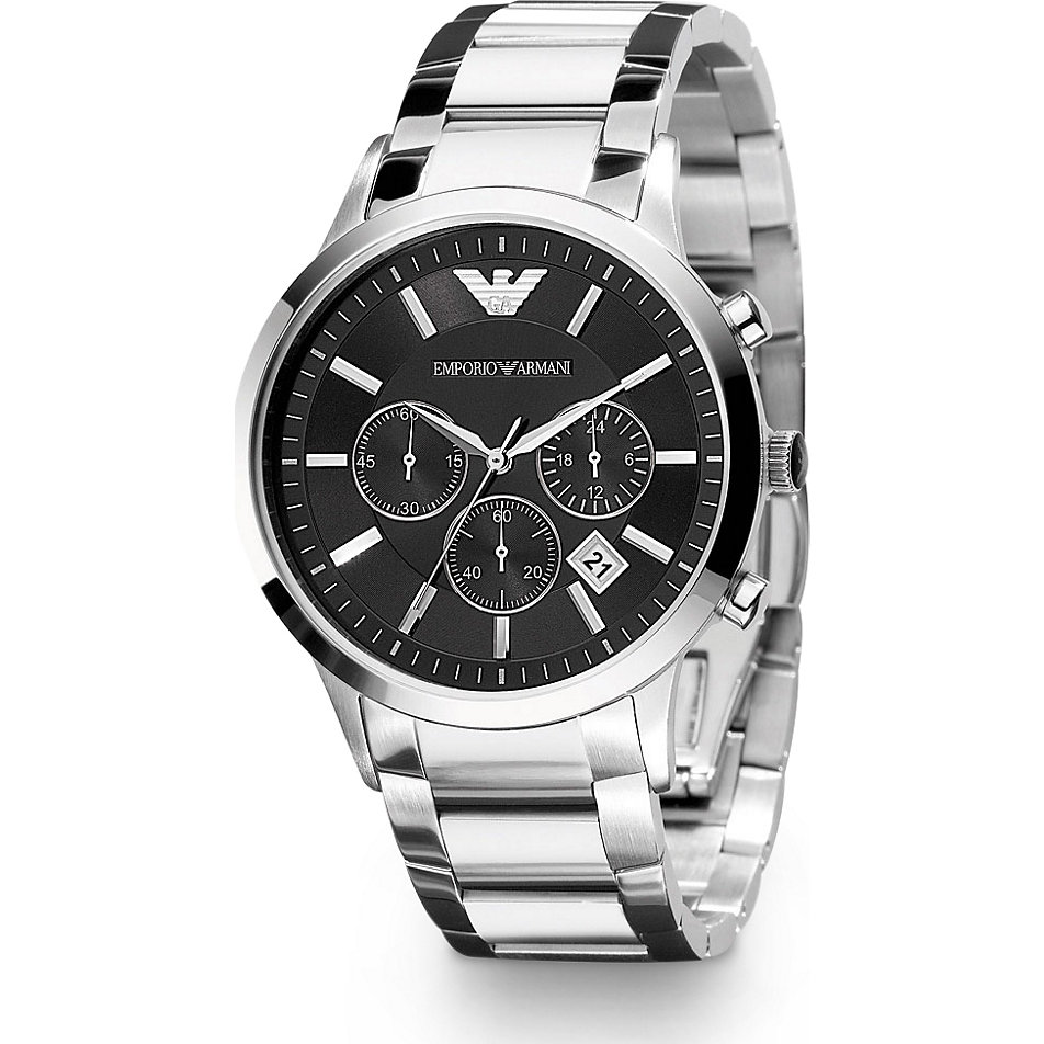 Armani armbanduhr herren schwarz