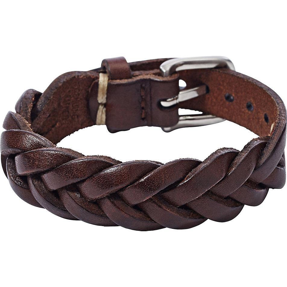 Fossil Herren Braun Lederband Armband- & Taschenuhren Armbanduhren