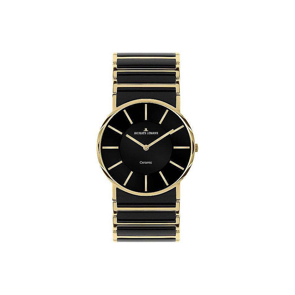 Damenuhren schwarz gold  JACQUES LEMANS York Ceramic 1-1649D jetzt bei CHRIST.de bestellen
