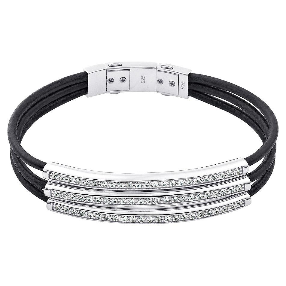 Lederarmband damen schwarz  JETTE Silver BASIC Lederarmband schwarz 85561588 bei CHRIST.de ...
