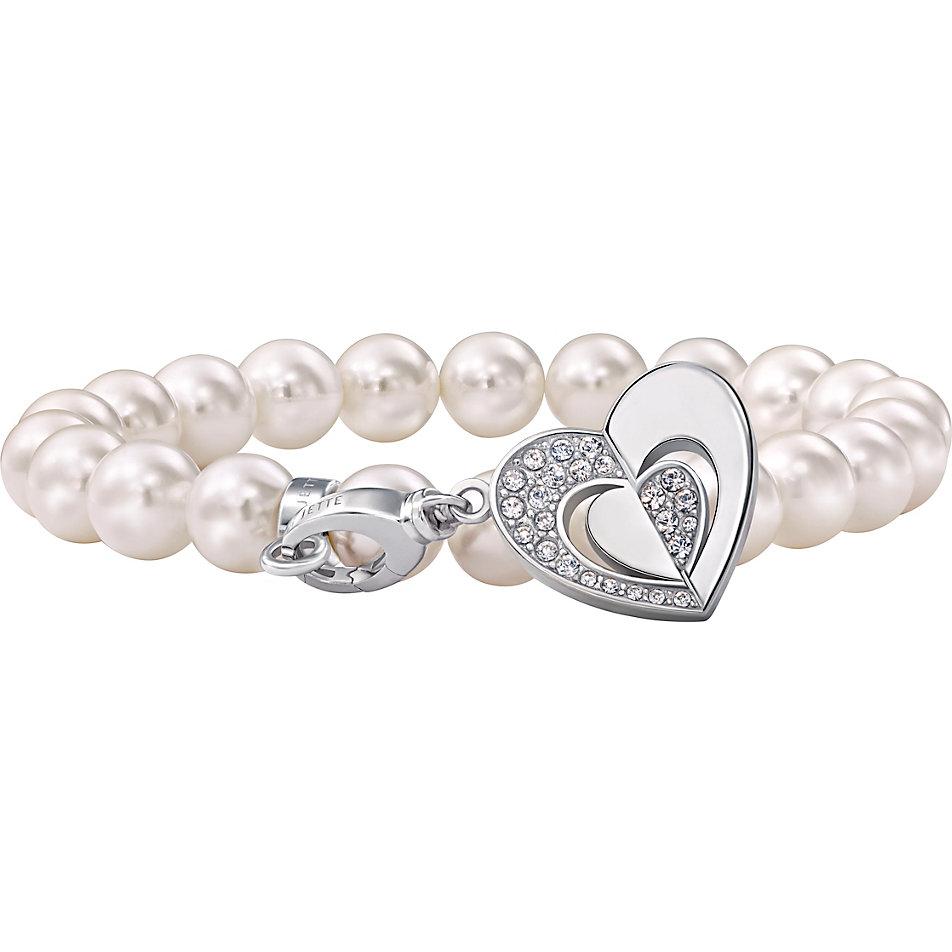 Perlenarmband  JETTE Silver Perlenarmband mit Charm 300075 bei CHRIST.de bestellen