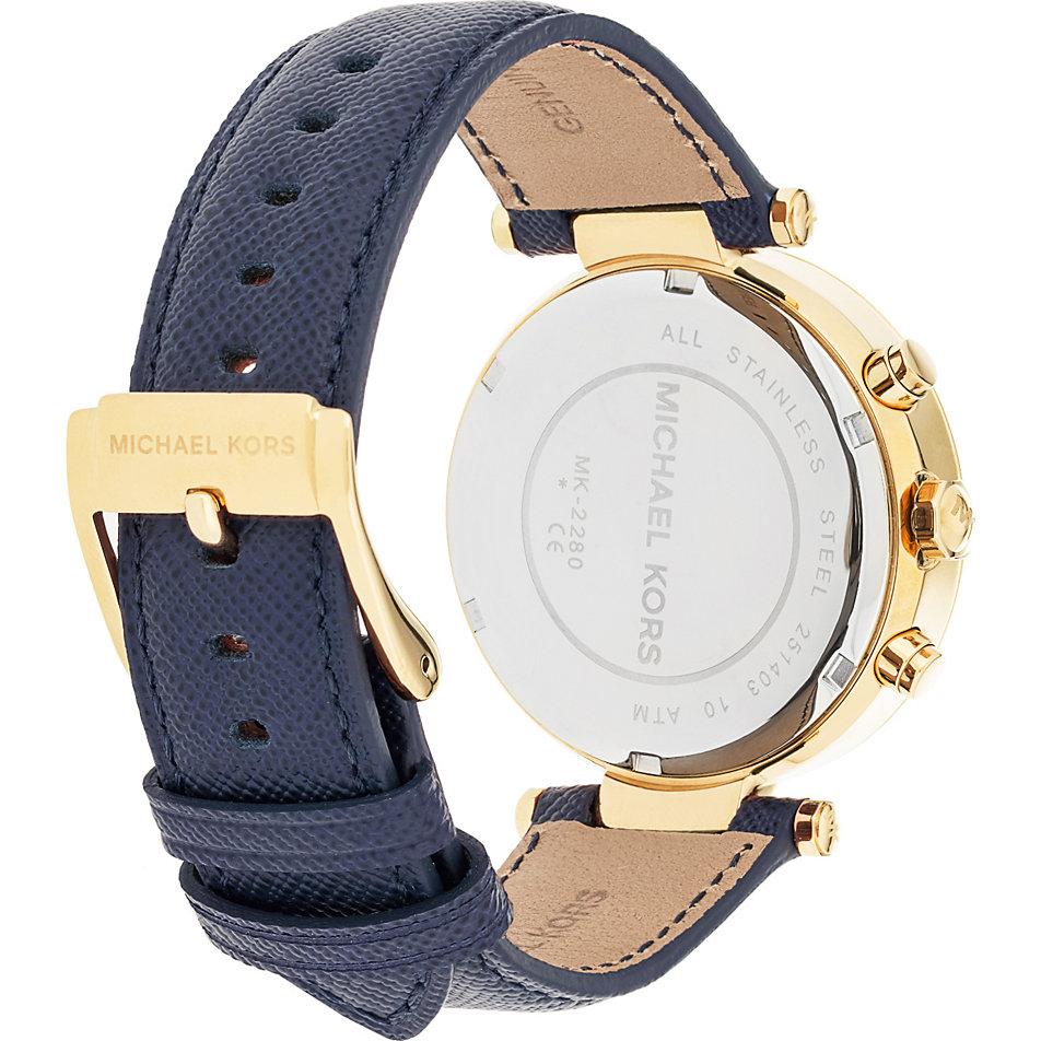 Michael kors damen armbanduhr chronograph quarz leder mk2280