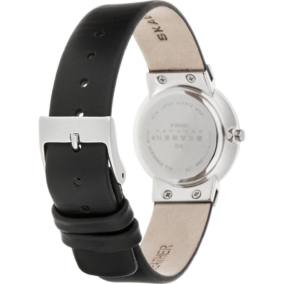Skagen damen armbanduhr xs analog quarz leder 358sslb