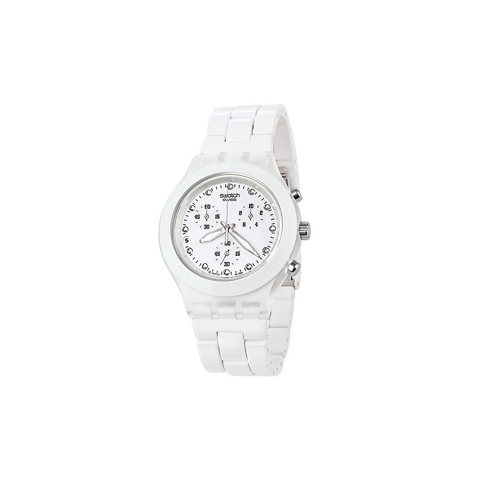 Swatch Chronograph Full-Blooded White SVCK4045AG bei